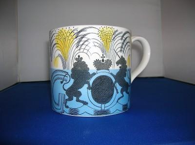 Ravilious 1937 George & Elizabeth Mug by Wedgwood