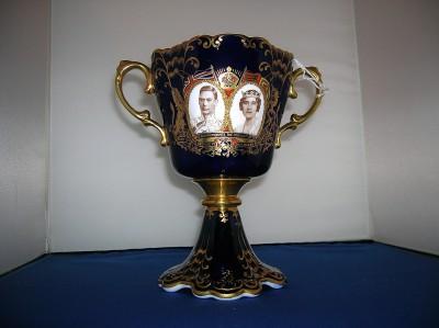 Aynsley Luxury Footed Goblet 1937 George & Elizabeth