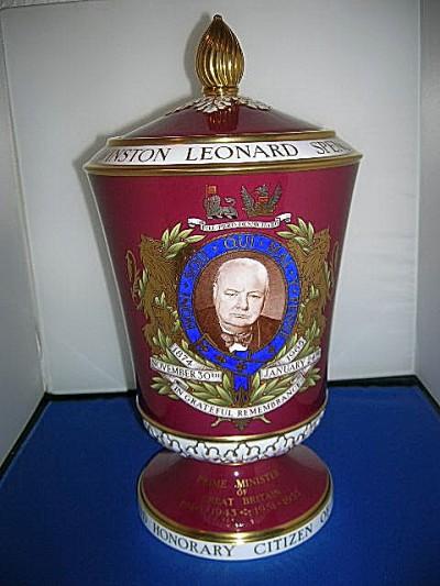 1965 Spode Churchill in Memoriam Vase.