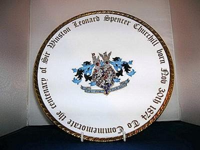 Winston Churchill Centenary of Birth Plate by Paragon.